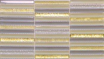 Cascades Dazzle Glass Mosaic Tile - 11.8