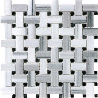 """Fluid Marble Basketweave (Honed) 12"""" x 12"""" - Fluid"""