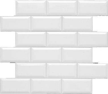 "Neri Tile Beveled Mesh 2"" x 4"" - White"