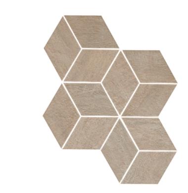 "Mark Mosaic Esagono Matte Tile 12"" x 13 7/8"" - Clay"