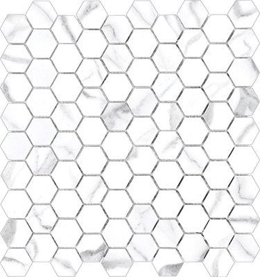 "Mayfair Tile HD Hexagon Mosaic 1.25"" x 1.25"" - Statuario"