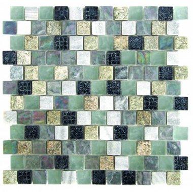 "Glass Tile Brick 12"" x 12"" - Mix"