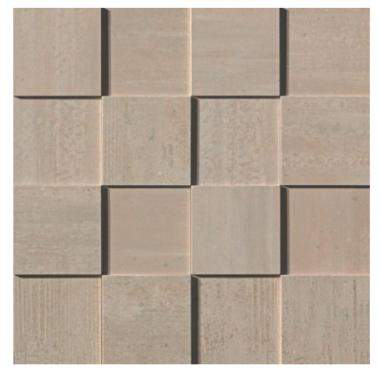 Mark Mosaic 3D Polished Tile 3 x 3 - Clay