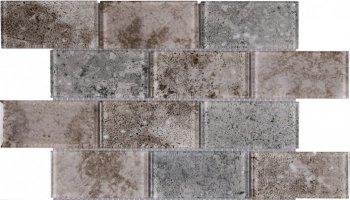 Glass Tile Brick Multi Deco 11.7