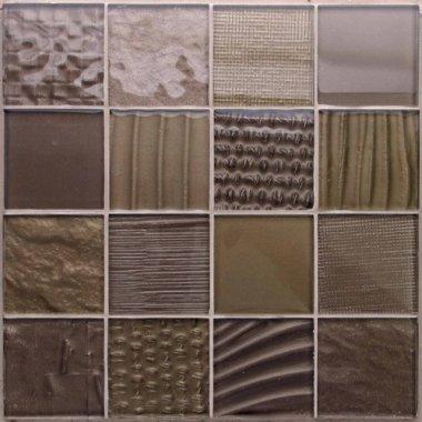 "Montage Glass Tile 12.1"" x 12.1"" - Negative"