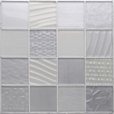 "Montage Glass Tile 12.1"" x 12.1"" - Silver Salts"