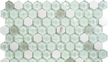 Glass Tile Hexagon Mosaic 12