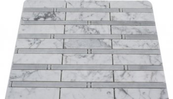Bamboo Stone Tile - White Carrera and Light Bardiglio