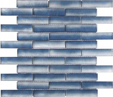 """Glass Tile Baguette Matte 11.7"""" x 11.8"""" - Mix Blue"""