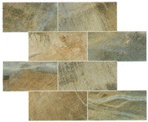 "Fossil Tile Mosaic 3"" x 6"" - Blue"