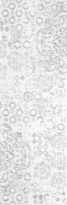 """Piccadilly Series Tile Glossy Decor 4"""" x 12"""" - Bianco"""