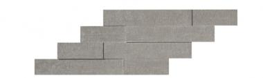 "Mark Mosaic Brick 3D Matte Tile 11 3/8"" x 23 1/4"" - Chrome"