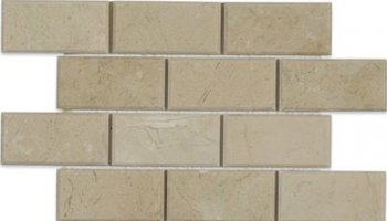 Crema Marfil Tile Beveled Brick 2