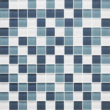 """Color Appeal Tile Mosaic Blend 1"""" x 1"""" - Blue Moon"""