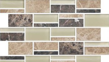 Color Appeal Tile Mosaic Blend 3in - Pebble Beach