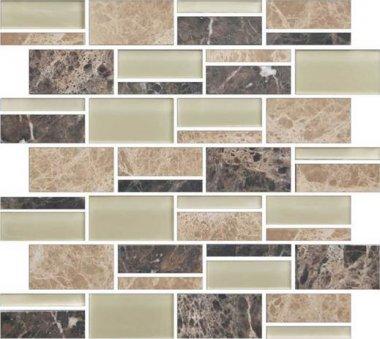 Color Appeal Tile Mosaic Blend 3in - Pebble Beach