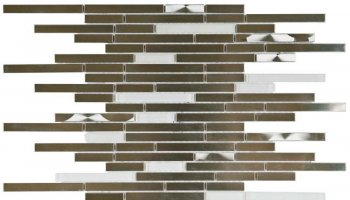 Metal Tile Brushed Baguette Interlocking 12