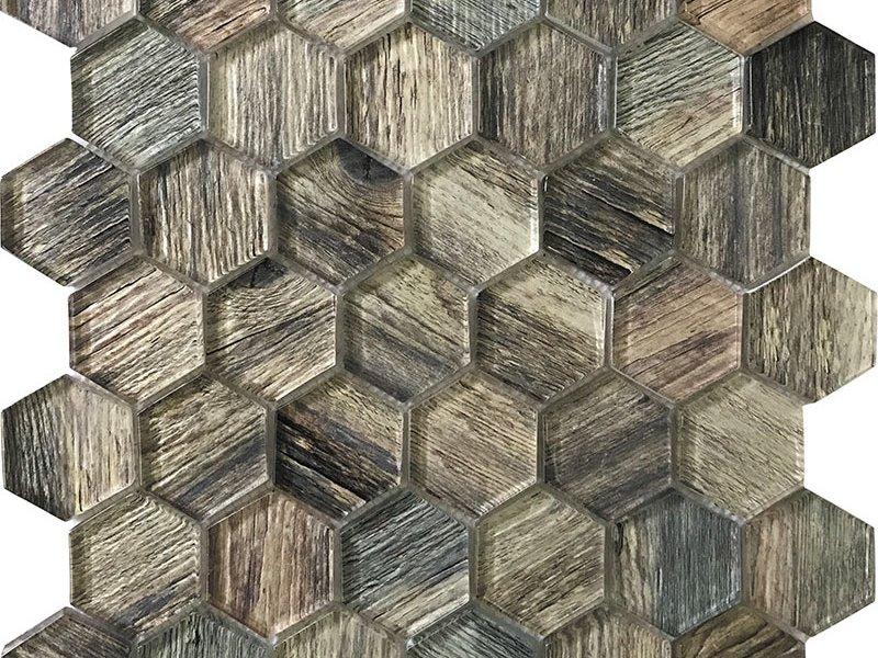 Mir Mosaic Tile Sierra Hex 11 8 X 11 8 Ponderosa