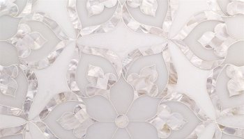 Water Jet MJ Juliet - White Thassos, Royal White and Mother Of Pearl