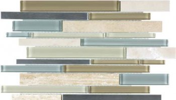 Bliss Stainless Glass Tile Mosaic - Sea Coast