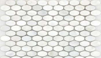 Winter Frost Oval Mosaic 12