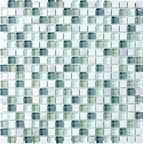 "Bliss Glass Tile Blend Mosaic 5/8"" x 5/8"" - Iceland"