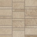 "Ridge Tile Row Mosaic 2"" x 4"" - Beige"