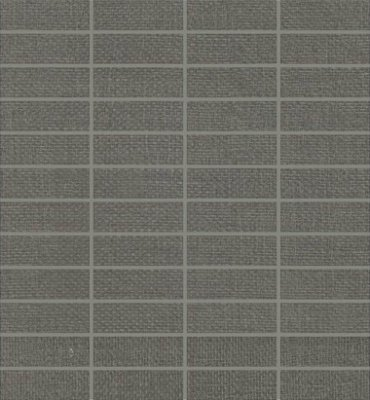 "Elemental Canvas Tile Mosaic 1"" x 3"" - Dark Gray"