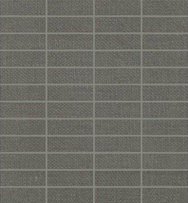 "Elemental Canvas Tile Mosaic 1"" x 3"" - Dark Gray"