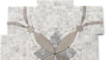 Floral Stone Tile 12