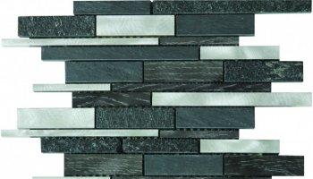Marble Stone Aluminum Mix Tile Baguette Mosaic 12