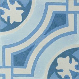 """Hydraulic Tile 12"""" x 12"""" - Blue"""