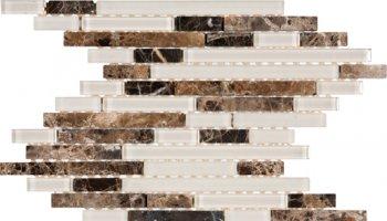 Glass Tile Baguette Interlocking 11,9