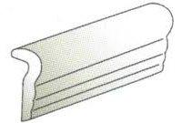 """Linea Tile Chair Rail 2"""" x 6"""" - Ice White"""