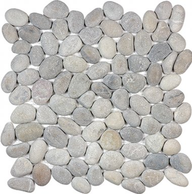 "Spa Pebbles Natural Mosaic 12"" x 12"" - Vitality Mica"