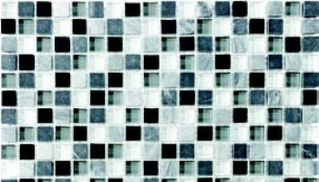 Bliss Glass Tile Blend Mosaic 5/8