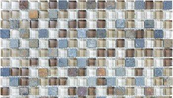Bliss Glass Tile Blend Mosaic 5/8