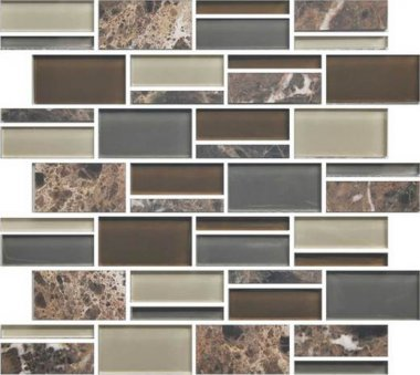 Color Appeal Tile Mosaic Blend 3in - Tortoise Shell