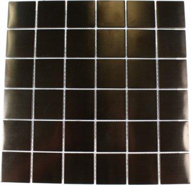"""Metal Mosaics Tile 2"""" x 2"""" - Rose"""