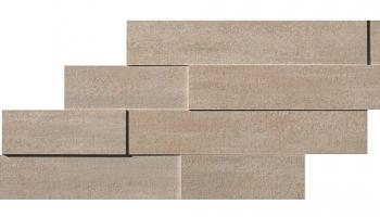 "Mark Mosaic Brick 3D Matte Tile 11 3/8"" x 23 1/4"" - Clay"