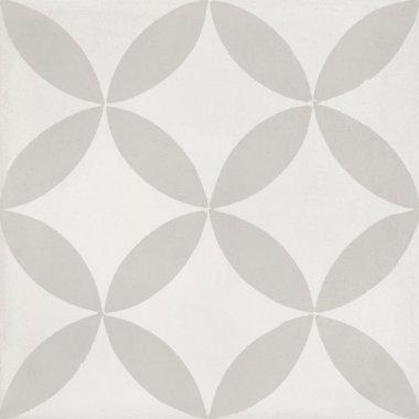 "Bati Orient Cement Tile Decor Modern 8"" x 8"" - Off White/Light Grey"
