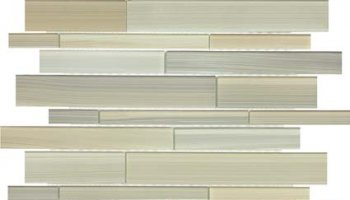 Bliss Fusion Glass Tile Random Strip Mosaic - Plantation