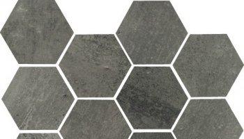 Concrete Hexagon Mosaic 11.69