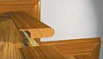 PRYZM Vinyl Trim Overlap Stairnose Brushed Oak - Gray