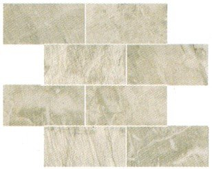 "Fossil Tile Mosaic 3"" x 6"" - Light Grey"