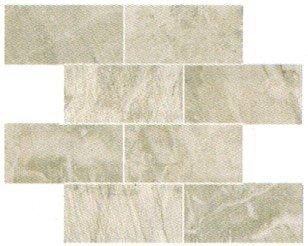 "Fossil Tile Mosaic 3"" x 6"" - Light Grey"
