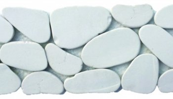 Reconstituted Pebble XL Stone Interlocking Mosaic Tile Border - 4