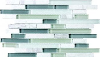 Bliss Glass Tile Blend Linear Mosaic - Iceland