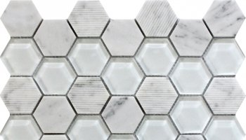 Bali Mantra - Hexagon Mosaic Tile - 11.8