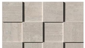 Mark Mosaic 3D Polished Tile 3 x 3 - Pearl